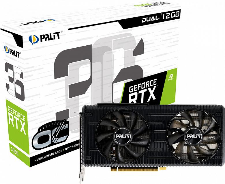 Видеокарта Palit GeForce RTX 3060 StormX хорошо подойдет для малогабаритного ПК