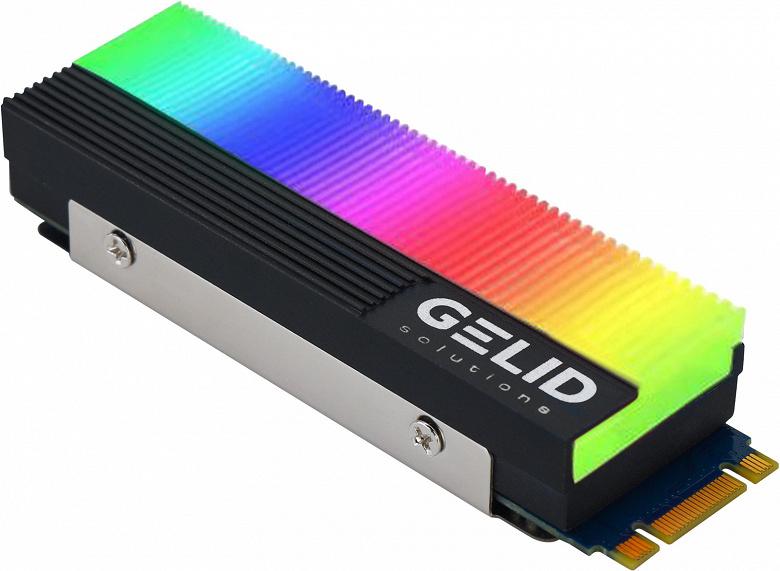 Радиатор Gelid Glint для твердотельных накопителей типоразмера M.2 украшен адресуемой подсветкой