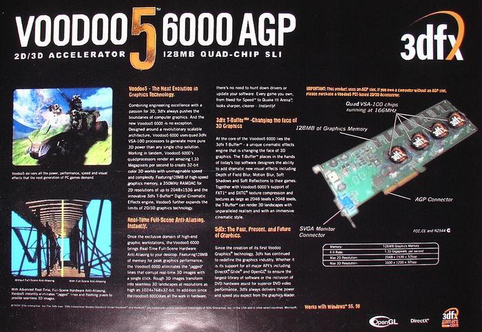 До чего довел дефицит видеокарт. Пользователь воссоздал 3D-карту 3dfx Voodoo 5 6000 из 1999 года