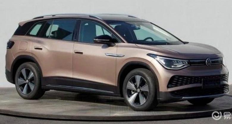 Он придет на смену Touareg. Крупный электрический кроссовер Volkswagen ID.6 позирует на живых фото
