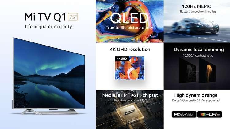 В Европе представлен огромный и доступный QLED-телевизор Xiaomi Mi TV Q1