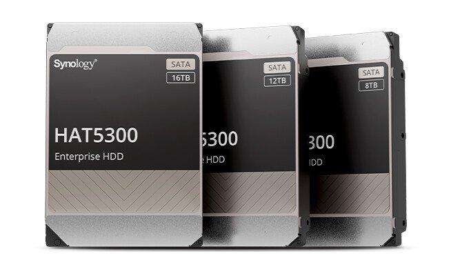 Представлена серия жестких дисков HAT5300 для хранилищ Synology