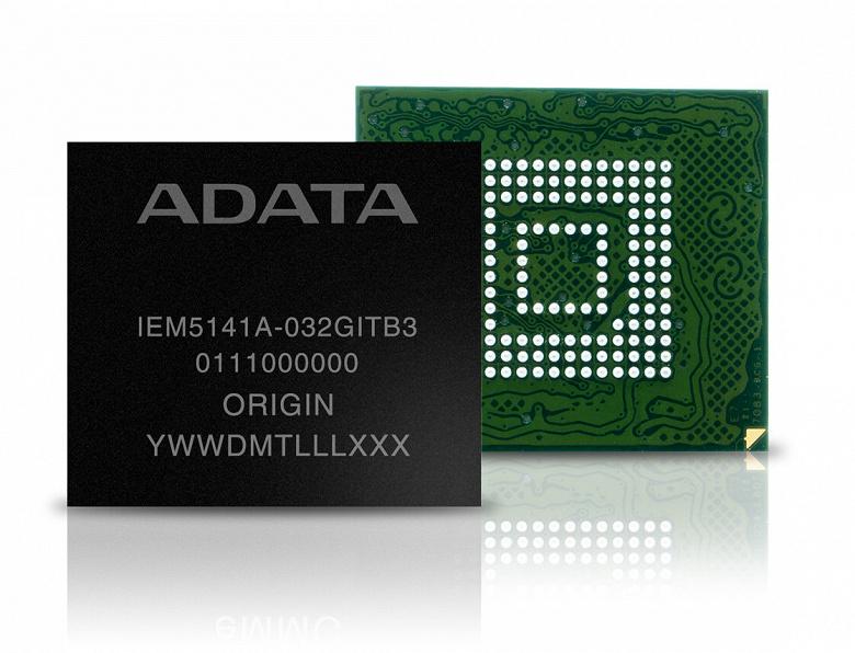 Модуль eMMC промышленного уровня Adata IEM5141A выпускается в вариантах MLC и TLC
