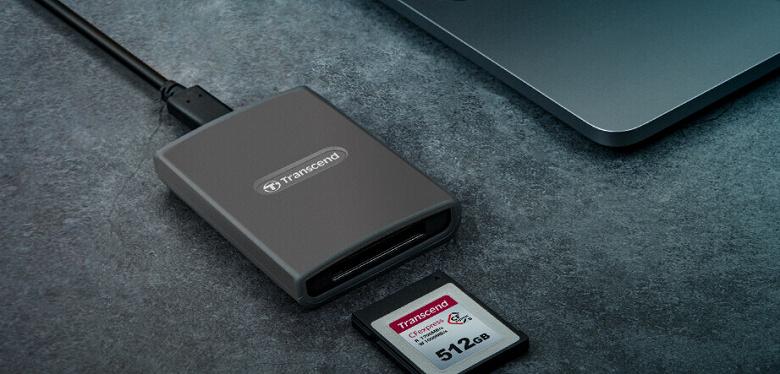 Компания Transcend представила карты памяти CFexpress 820 Type B и устройство для работы с ними