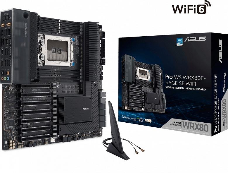 Системная плата Asus Pro WS WRX80E-SAGE SE WIFI предназначена для рабочих станций
