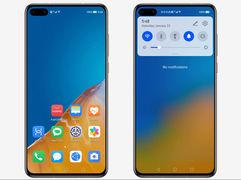 Замена Android от Huawei оказалась клоном Android 10. Различимой разницы в HarmonyOS не обнаружено