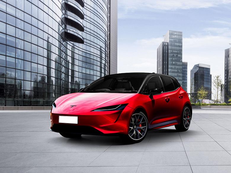 Tesla Model 2 за 25000 долларов впервые позирует на рендерах