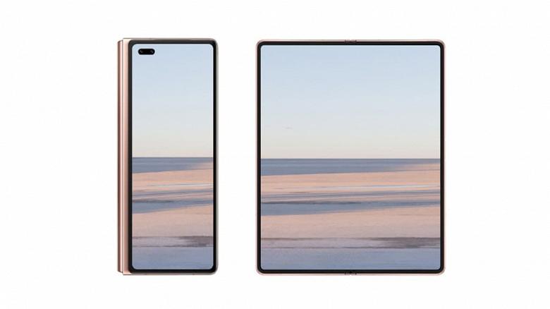 Гигантский экран без отверстий и вырезов. Качественное изображение Huawei Mate X2