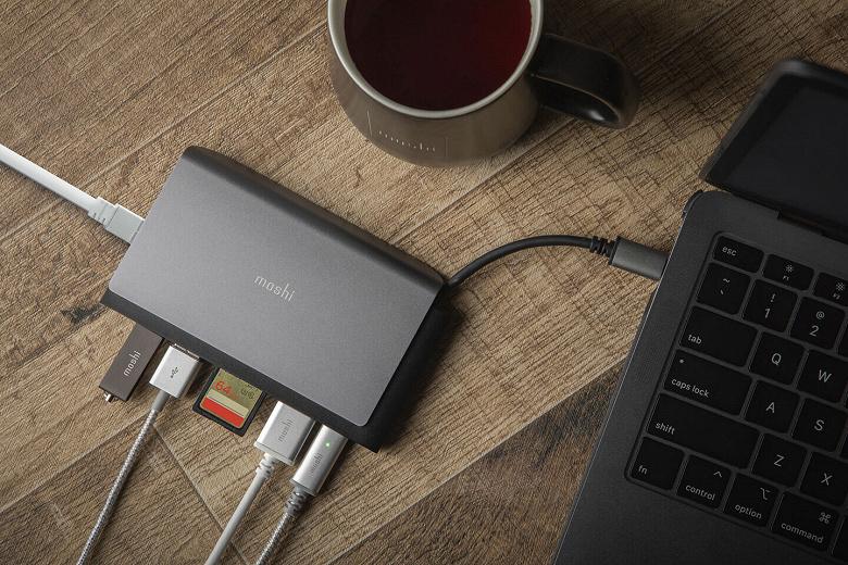 Производитель называет миниатюрную док-станцию Moshi Symbus Mini портативным концентратором USB-C