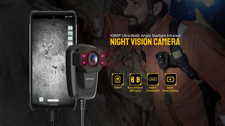 Представлена камера ночного видения для любого смартфона с разъёмом USB-C
