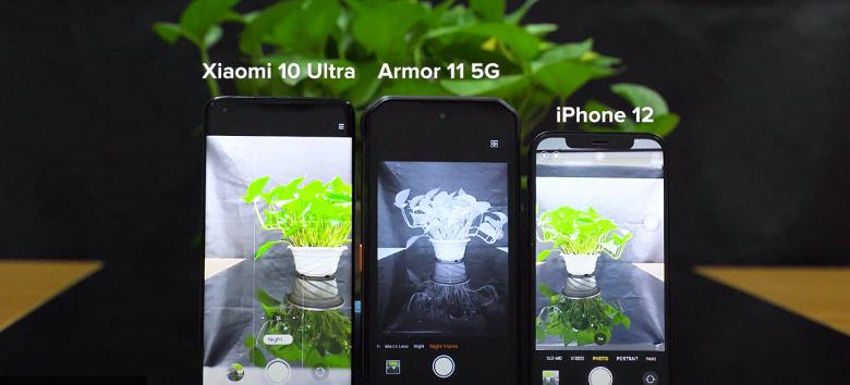 iPhone 12 и Xiaomi Mi 10 Ultra проиграли Ulefone Armor 11 5G в ночной съёмке