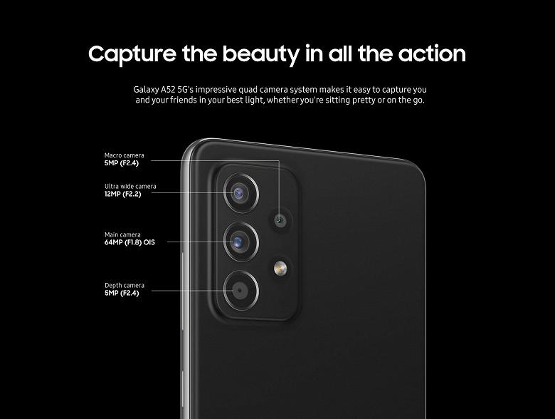 Официальные маркетинговые материалы Samsung Galaxy A52 и A72 утекли в сеть: наглядная разница между моделями