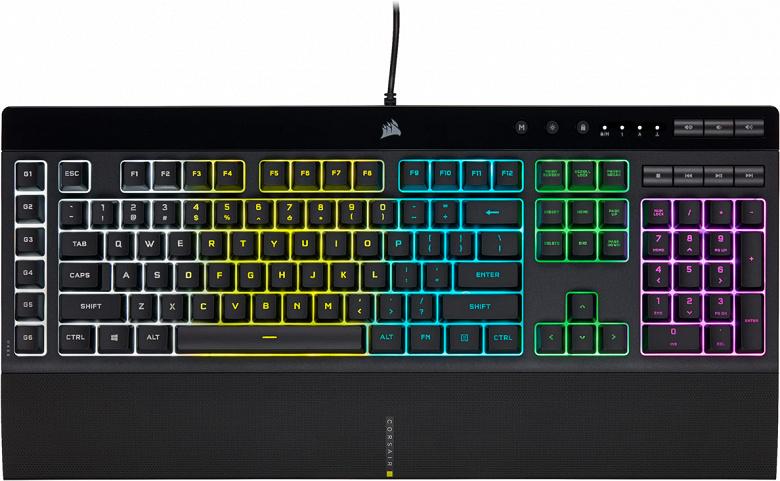 Представлены клавиатуры Corsair K55 RGB Pro и K55 RGB Pro XT