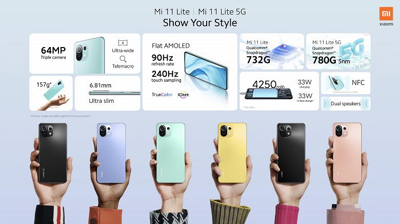 Самый тонкий и лёгкий смартфон Xiaomi — единственный в линейке Mi 11 с поддержкой карт памяти MicroSD