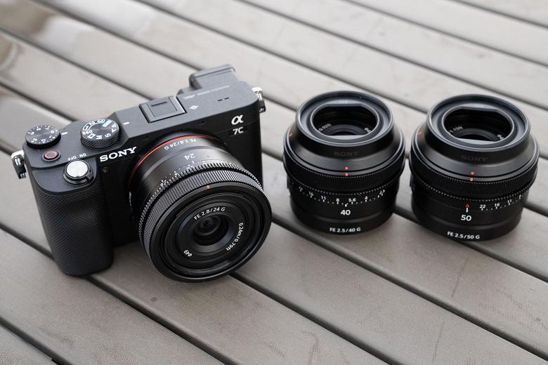 Представлены объективы Sony FE 50mm F2.5 G (SEL50F25G), FE 40mm F2.5 G (SEL40F25G) и FE 24mm F2.8 G (SEL24F28G)