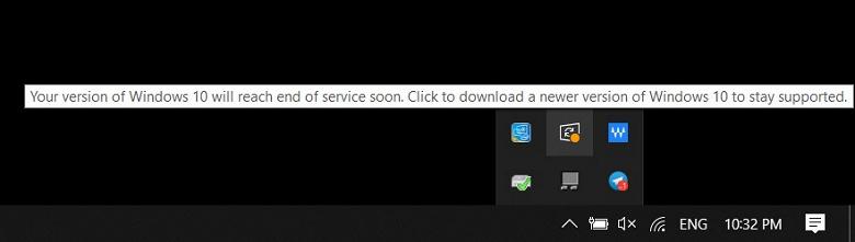 Microsoft предупреждает о конце жизни ещё одной версии Windows 10
