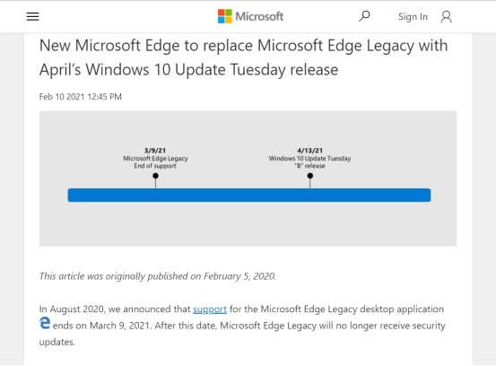 Дни браузера Edge сочтены. Microsoft полностью откажется от его классической версии в Windows 10