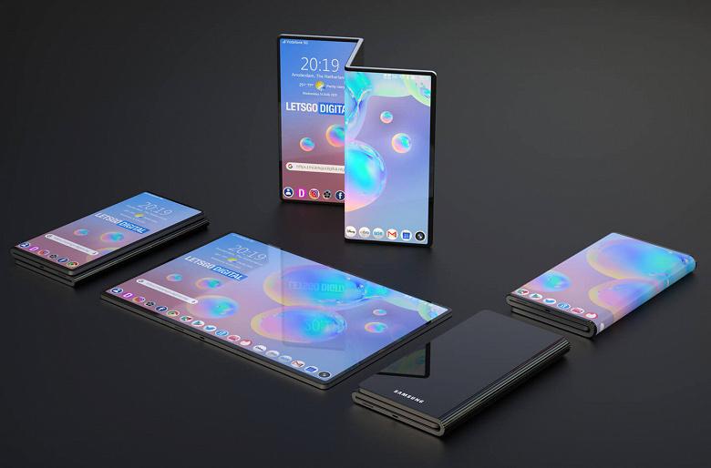Так выглядит первый смартфон Samsung с двойным складыванием: первые качественные изображения