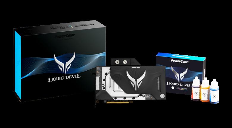 Видеокарты PowerColor Radeon RX 6900 XT и RX 6800 XT Liquid Devil, оснащенные водоблоками, должны появиться в продаже 15 марта