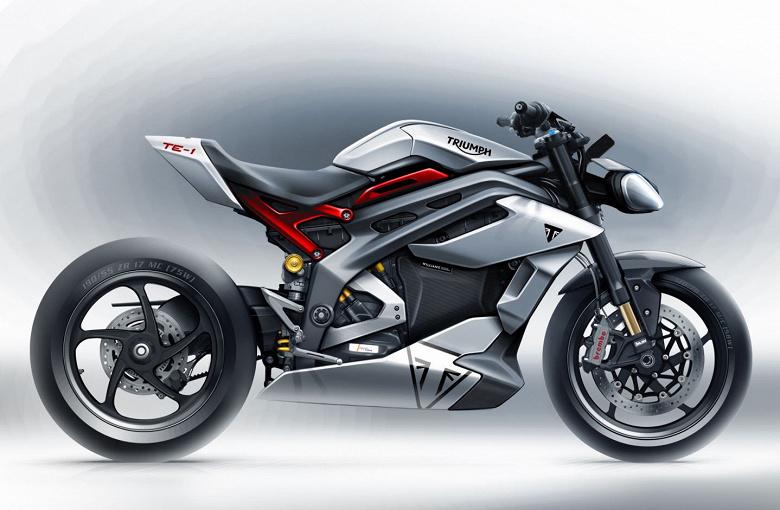 Компания Triumph представила концепт электроцикла TE-1