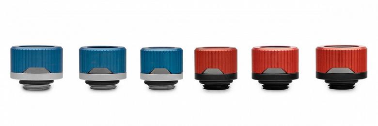 Фитинги EK-Quantum Torque HDC стали доступны в красном и синем цветах