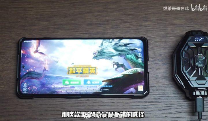 Игровой смартфон Black Shark 4 во всей красе, внешний кулер с отслеживанием температуры прилагается