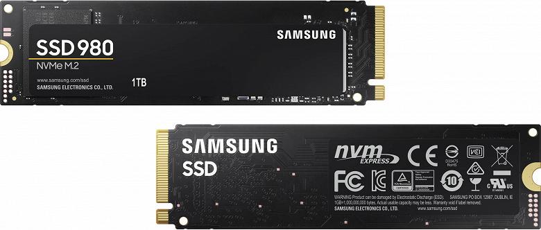 В твердотельных накопителях Samsung 980 нет DRAM и PCIe 4.0