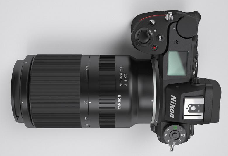 Так может выглядеть объектив Tamron 70-180mm f/2.8 для камер Nikon Z