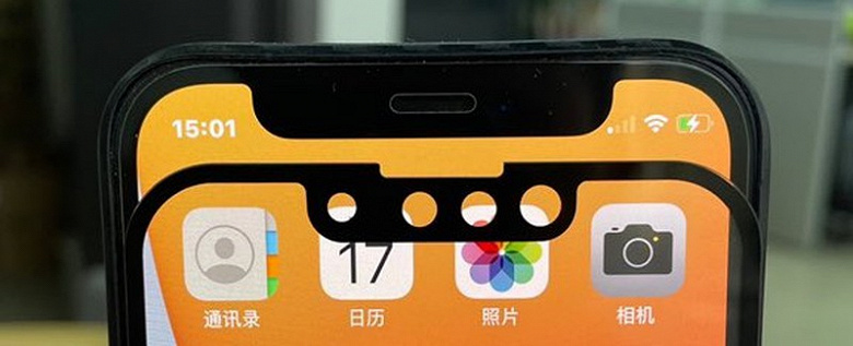 Уменьшенную чёлку iPhone 13 сравнили с вырезом в дисплее iPhone 12 на живых фото