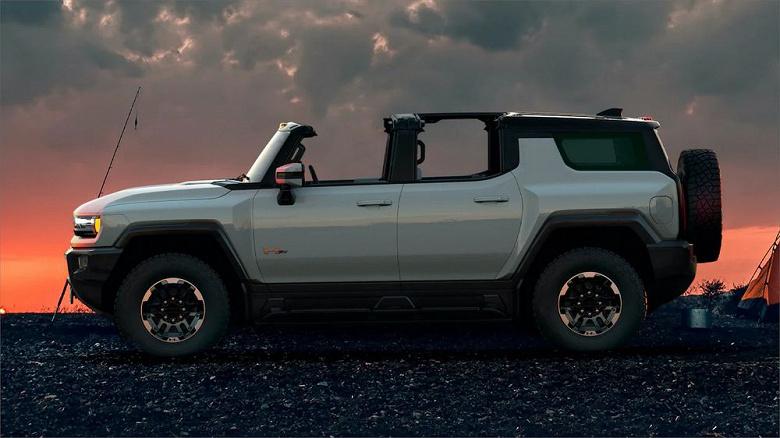 830 л.с., разгон до 100 км/ч за 3,5 с и около 500 км на одной зарядке. Представлен внедорожник Hummer EV SUV – идейный наследник легендарного Hummer H3