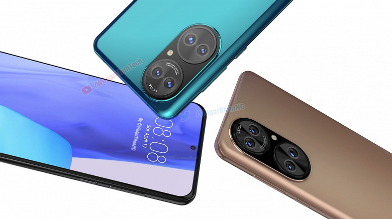 Huawei P50 в разных цветах на огромных неофициальных рендерах разрешением 4К и в концептуальном видеоролике