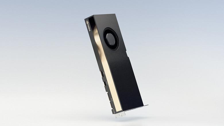 Nvidia представила видеокарты RTX A5000 и RTX A4000 для настольных компьютеров. Это как RTX 3080 и RTX 3070, но с удвоенными объемами памяти