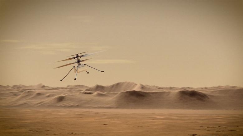 НАСА приглашает всех проследить за полётом марсианского вертолёта Ingenuity