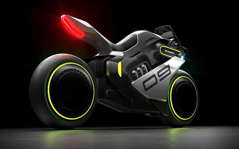 Футуристический водородный мотоцикл с «парящими колёсами». SegwayApexH2 через два года станет серийным продуктом