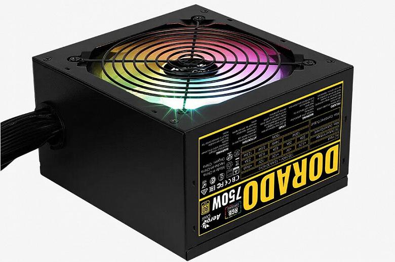 Блоки питания AeroCool Dorado имеют сертификаты 80 Plus Gold