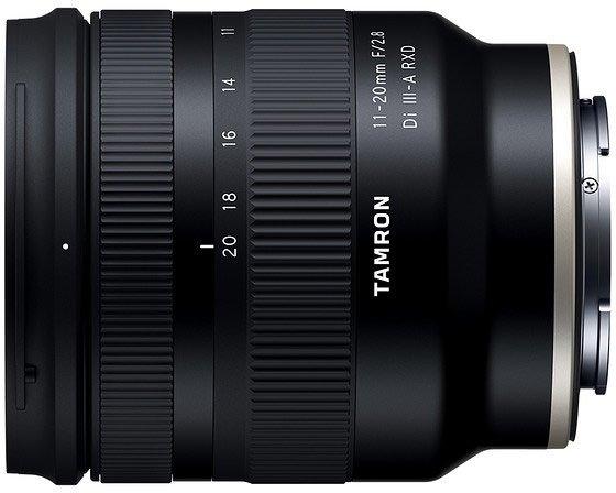 Объектив Tamron 11-20mm F/2.8 Di III-A RXD (Model B060) предназначен для беззеркальных камер формата APS-C с креплением Sony E