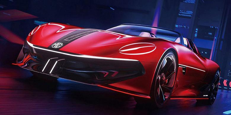 Опубликованы изображения концептуального спортивного электромобиля MG Cyberster