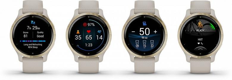 Представлены современные умные часы Garmin Venu 2 с GPS: два размера по одной цене