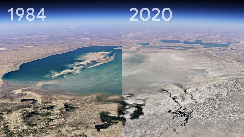 Эпичное обновление Google «Планета Земля». Изменения почти за четыре десятилетия показаны наглядно