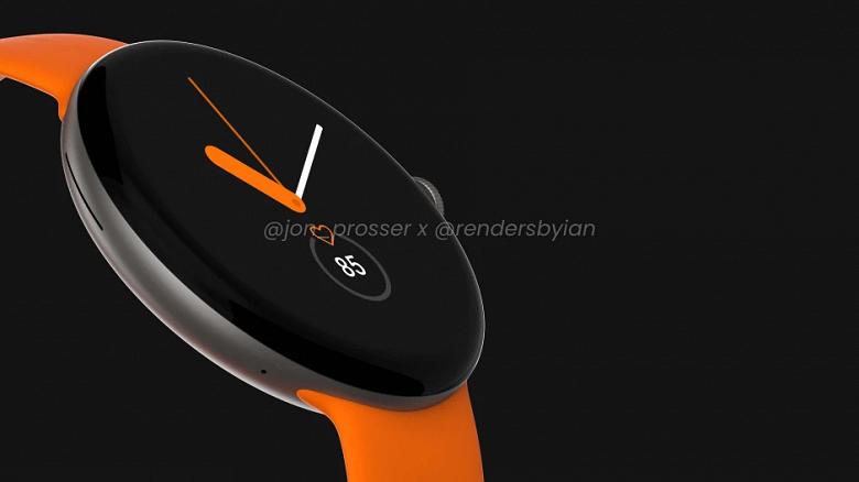 Умные часы Google Pixel Watch во всей красе. Фото не показали, но есть рендеры на их основе