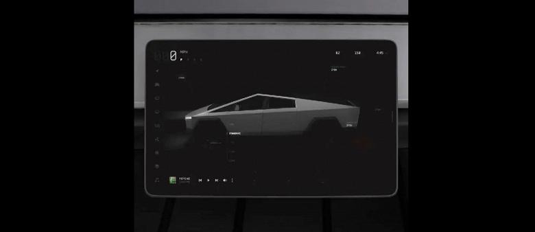 Уволившийся дизайнер Tesla показал «секретный» интерфейс футуристичного пикапа Cybertruck