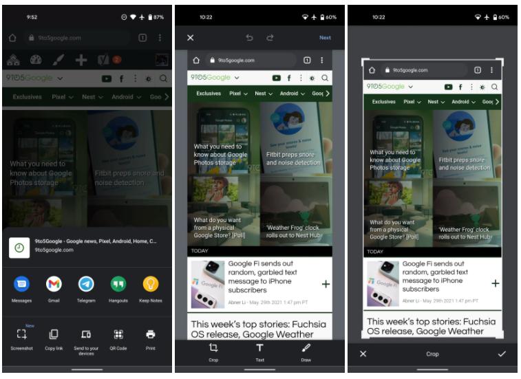 Мобильный Google Chrome научился работать со скриншотами