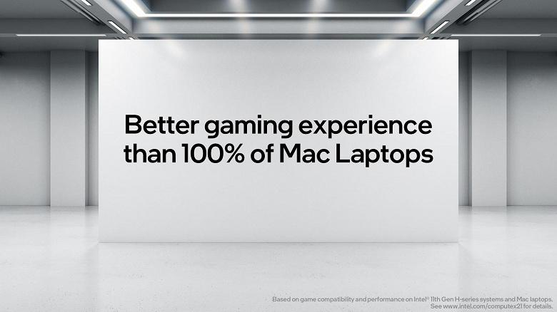 Intel не советует покупать MacBook Pro на процессоре Intel, если вам нужен ПК для игр. Компания снова противопоставляет ПК с Windows системам Apple