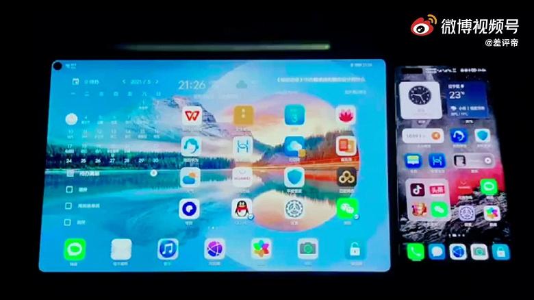 Так работает HarmonyOS 2.0 одновременно на смартфоне и планшете Huawei. Наглядное видео