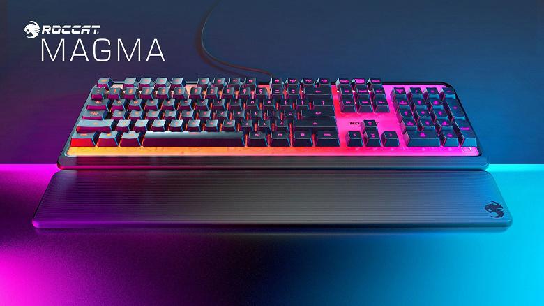 Игровая клавиатура Roccat Magma Membrane RGB имеет необычную подсветку