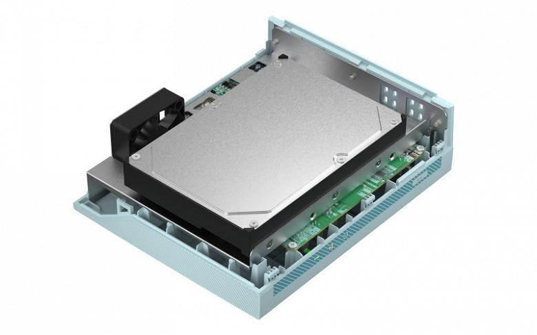 Домашнее сетевое хранилище Qnap TS-130 рассчитано на один накопитель