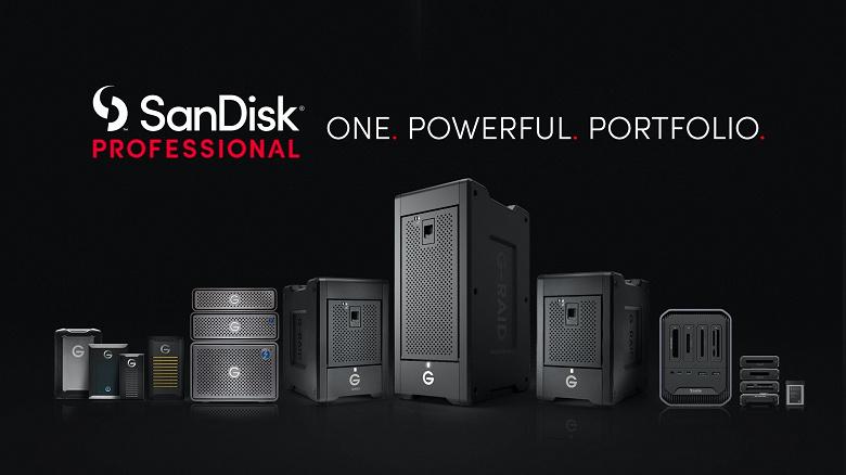 Компания Western Digital представила бренд SanDisk Professional
