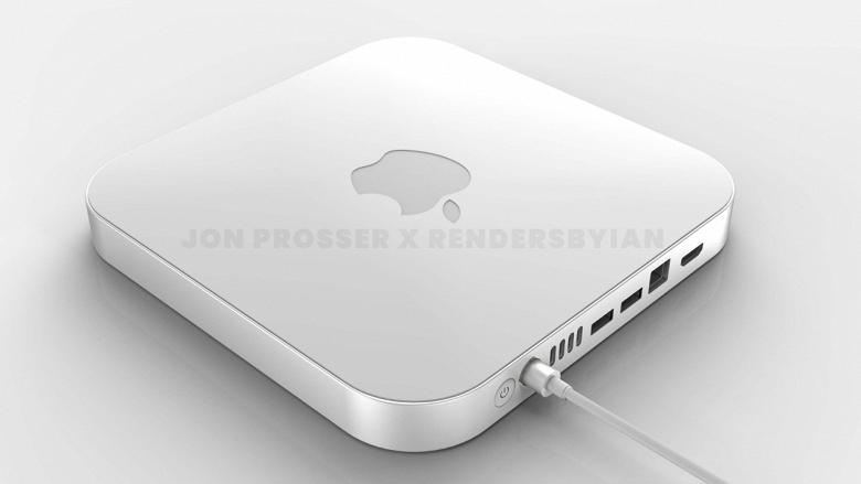 Примерно так может выглядеть мощный Apple Macmini с крышкой из оргстекла. Появились первые рендеры
