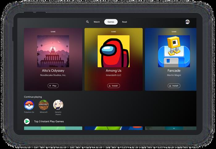 Google представила новый интерфейс для планшетов на Android в стиле Google TV