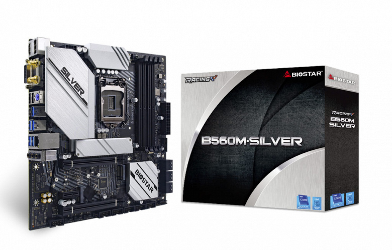 Системная плата Biostar B560M-Silver типоразмера microATX поддерживает процессоры Intel Core 11-го поколения (Rocket Lake-S)